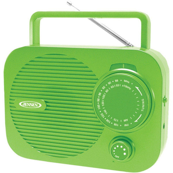 Jensen Mr-550-g Portable AM/FM Radio (Green)