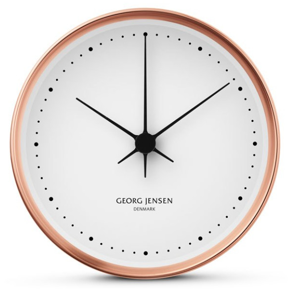 Georg Jensen KOPPEL 22cm Wall Clock, Copper