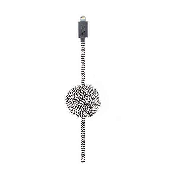 Native Union NIGHT Cable with Lightning Connector (Zebra)