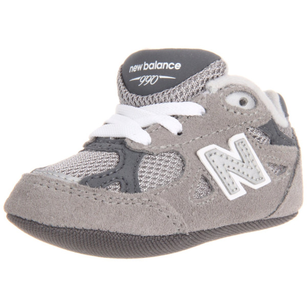 New Balance KJ990 Crib Shoe (Infant/Toddler),Grey,3 M US Infant