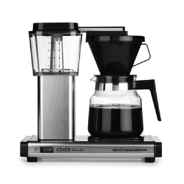 Technivorm Moccamaster Thermal K 741 AO (2012 Model) Coffee Brewer With Glass Decanter (Brushed Matte Silver)