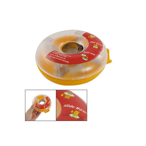 Yellow Clear Donut Shaped One Step Corn Peeler