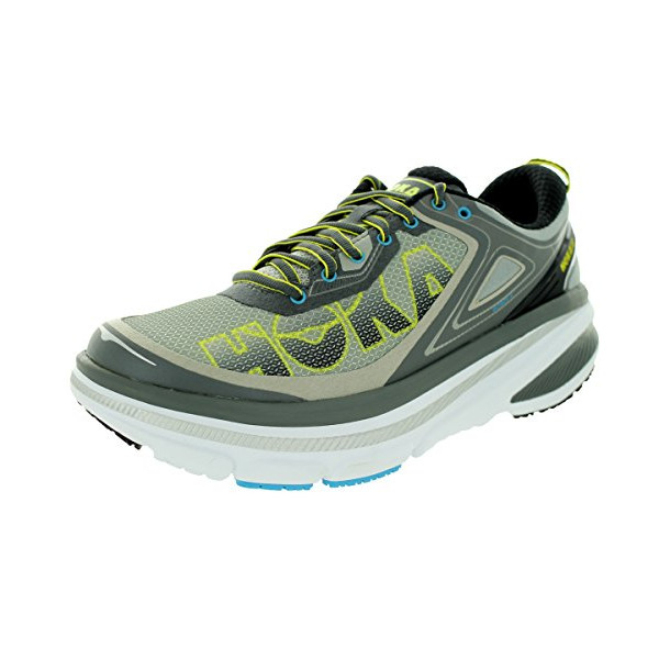 Hoka One One Men's M Bondi 4 Grey/Citrus/Cyan Running Shoe 11 Men US