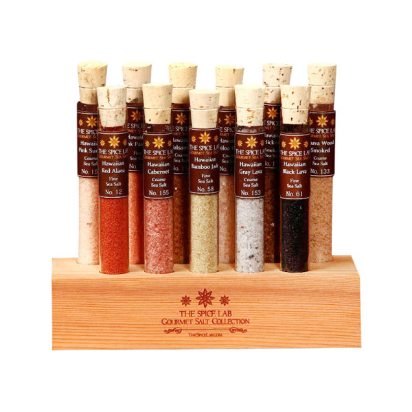"Aloha Sea Salt Tasting Collection 11 Tubes - Featured in Oprah ""O"""