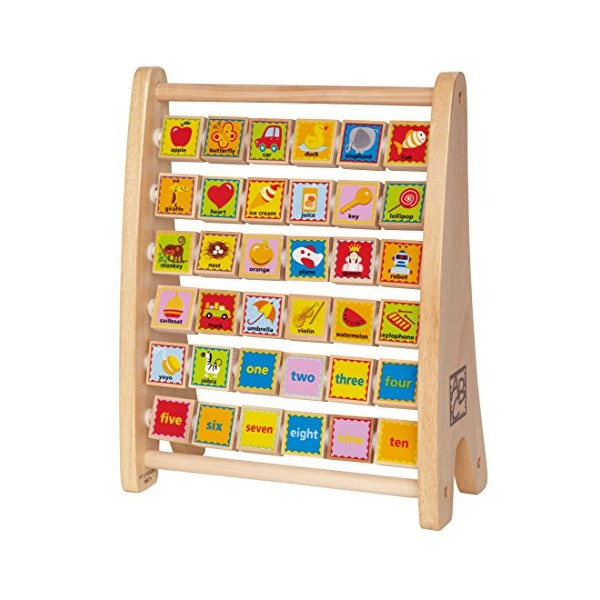 Hape - Early Explorer - Alphabet Abacus Wooden Counting Toy