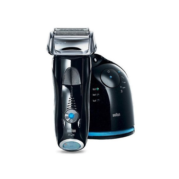 Braun Series 7-760cc Pulsonic Shaver System, Black and Silver