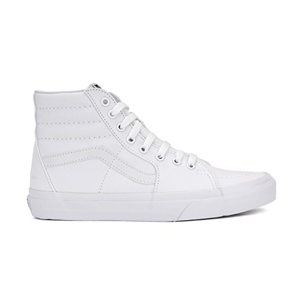 Vans Unisex SK8-Hi True White Canvas VN000D5IW00 Mens 5.5, Womens 7