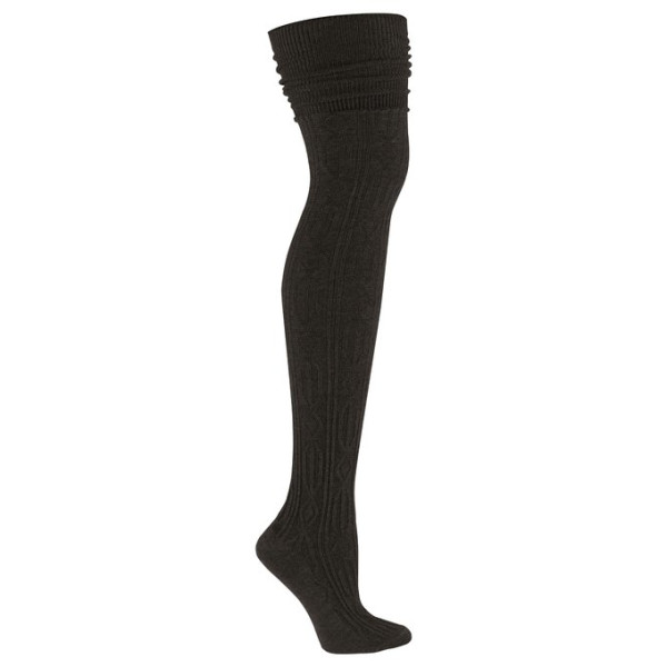 Sock It To Me OTK BLACK CABLE KNIT Womens Thigh High Socks