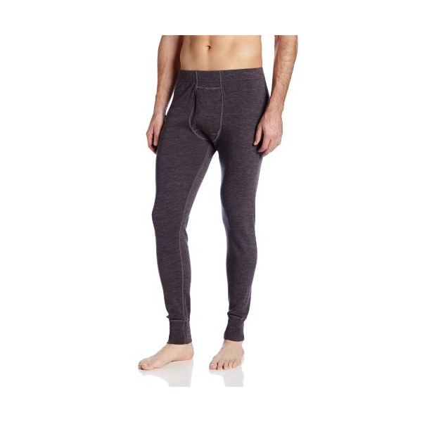 Minus33 Merino Wool Men's Kancamagus Midweight Bottom, Charcoal Grey, Medium