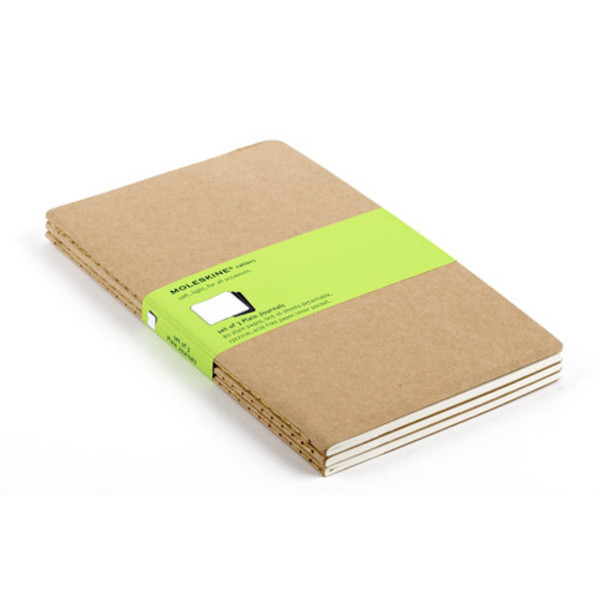 Moleskine Cahier Kraft Journal, Set of 3