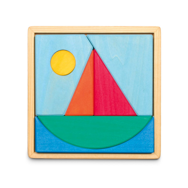 Grimm's Wooden Sailboat Puzzle
