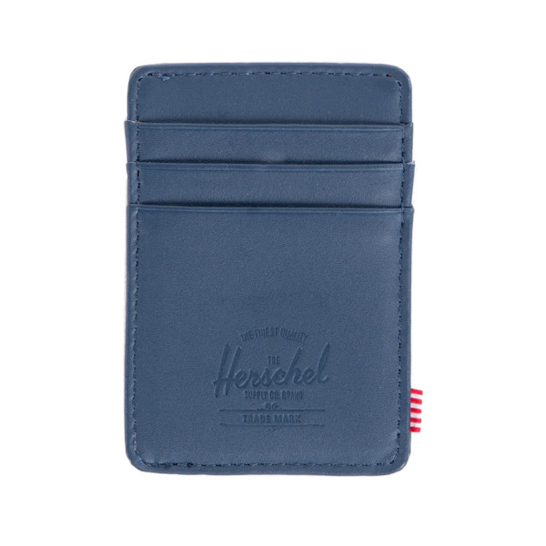Herschel Supply Company Coin Pouch Raven Leather, Navy