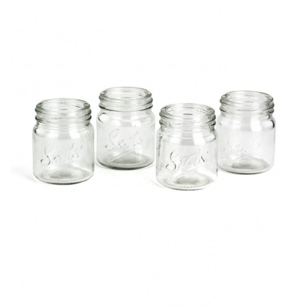 Mason Jar Shot Glasses (Set of 4 Glasses)