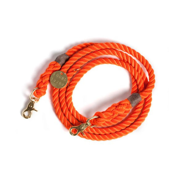 Found My Animal Standard Brass Rescue Leash- L (5ft/183cm)