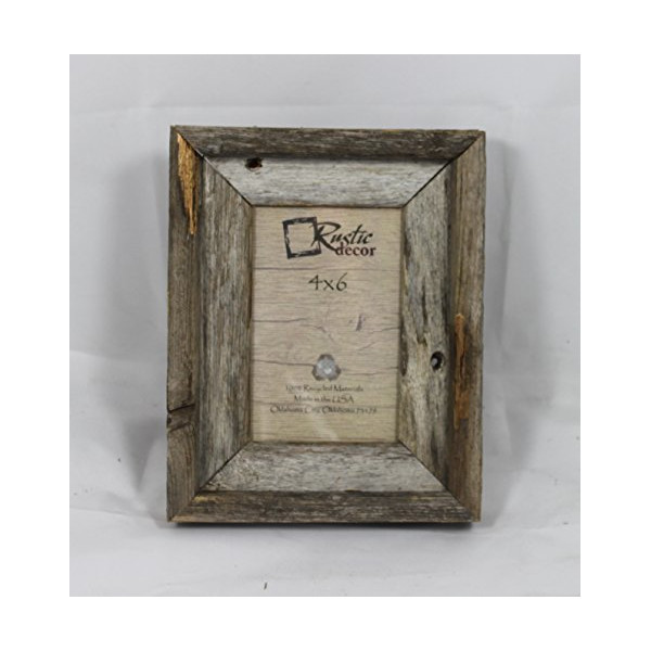 4x6 Natural Barn Wood Photo Frame