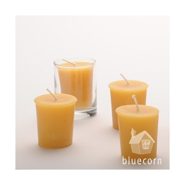 Bluecorn Naturals 100% Pure Raw Beeswax Votives (18 Case)