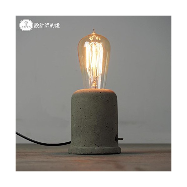 INJUCY LIGHTING INJUCY LIGHTING Industrial Edison Vintage Style Cement Concrete Desk lamp