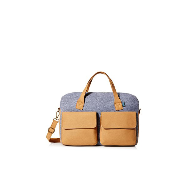 M.R.K.T. Frank Briefcase, Elephant Grey, One Size