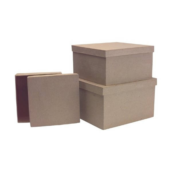 DCC Paper Mache Square Box (Set of 3)