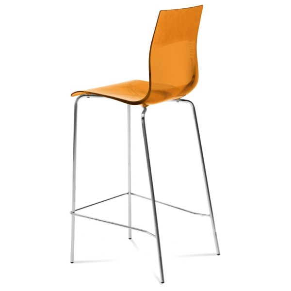 Domitalia Gel Stool in Transparent Orange