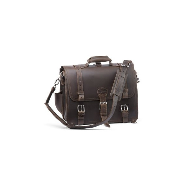 Saddleback Leather Briefcase, Classic Dark Coffee Brown