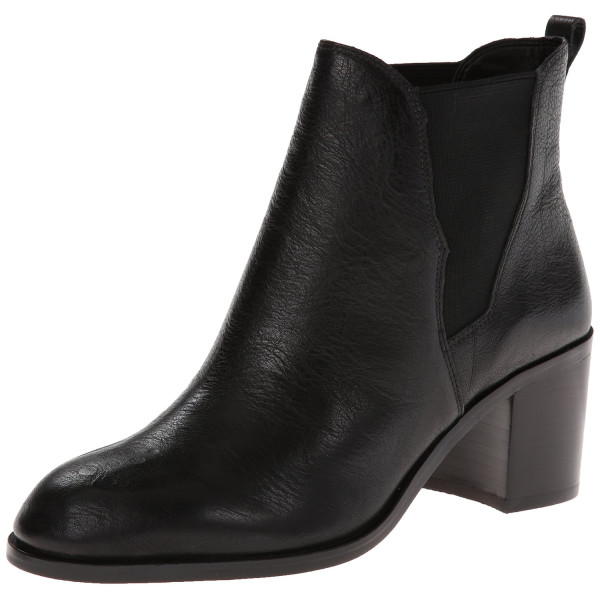 Sam Edelman Women's Justin Chelsea Boot, Black Leather, 7.5 M US
