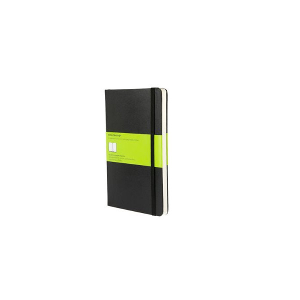 Moleskine Classic Hard Cover Large Plain Notebook - Black (5 x 8.25) (Classic Notebooks)