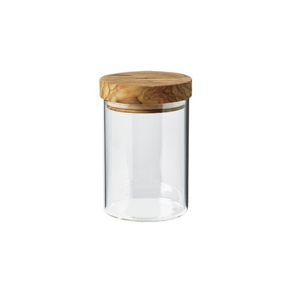 Berard 35101 Borosilicate Glass Jar with Olive Wood Lid 600 ml