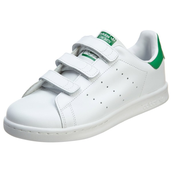adidas Stan Smith CF Crib Shoes White/White/Green M20607 (SIZE: 2Y)