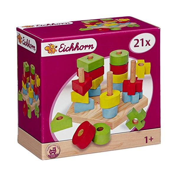 Eichhorn - Wooden toy plug-plate 21pcs