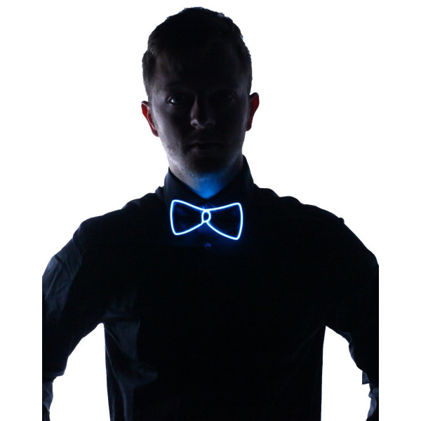 Light Up Bow Tie (Aqua)