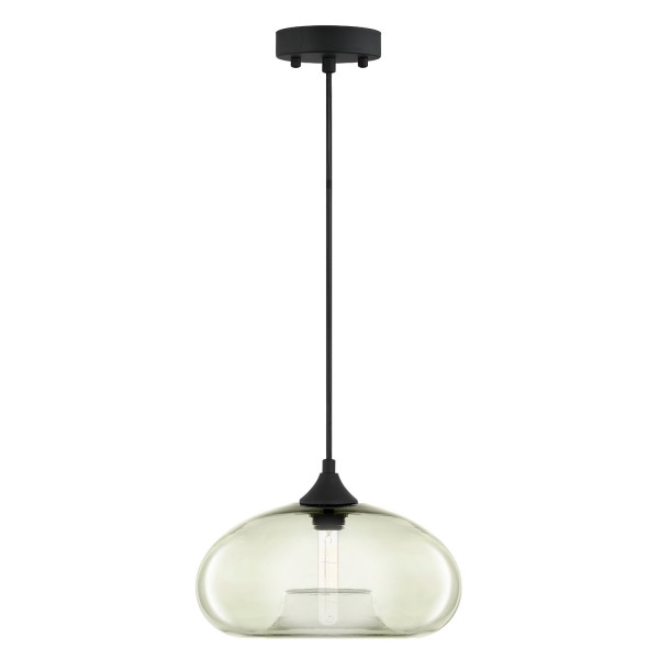 Linea di Liara Ori Slate Glass One Light Pendant Lamp LL-P515-SLA