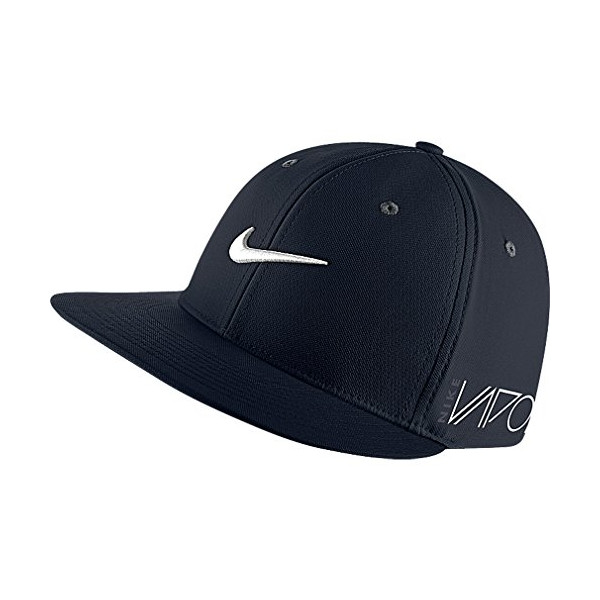 NEW Nike Golf Flatbill True Tour RZN Vapor Fitted Hat Cap (M/L, Black)