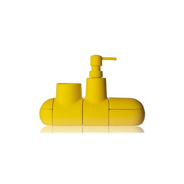 Submarino Porcelain Bathroom Accessory Set Color: Yellow