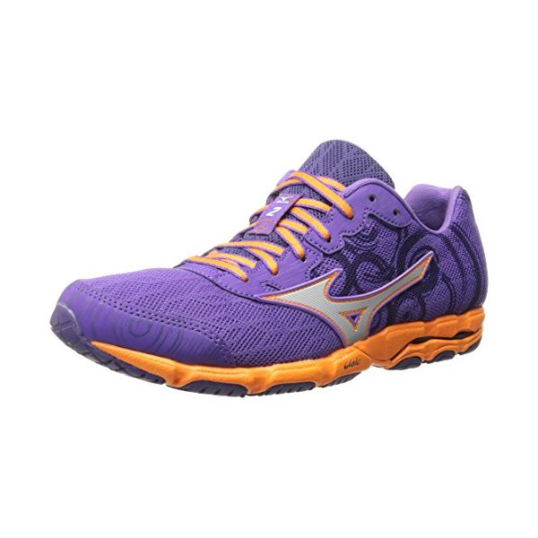 Mizuno Women's Wave Hitogami 2 Running Shoe, Deep Lavender/Silver, 8.5 B US