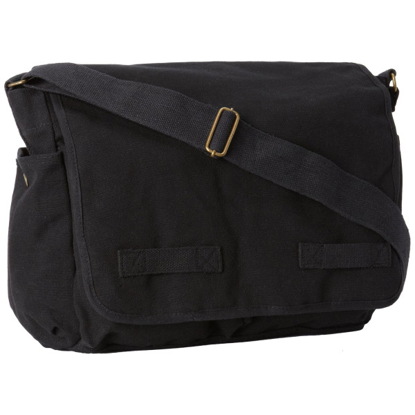 Rothco Classic Messenger Bag (Black)