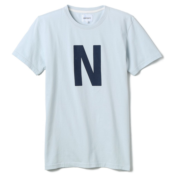 Norse Projects Men's Niels Basic Logo T-Shirt, Pale Blue