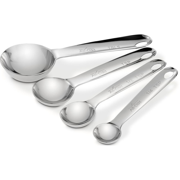 All-Clad Stainless Steel Measuring Spoons, Set of 4, Silver