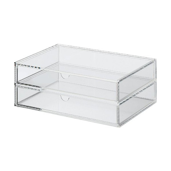 Muji Acrylic Case 2 Drawer, Large