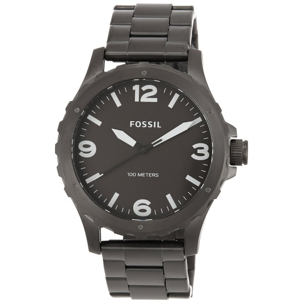 Fossil Men's JR1457 Nate Analog Display Analog Quartz Grey Watch