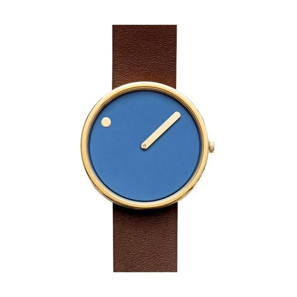 Rosendahl Watch - PICTO Leather - Blue/Brown