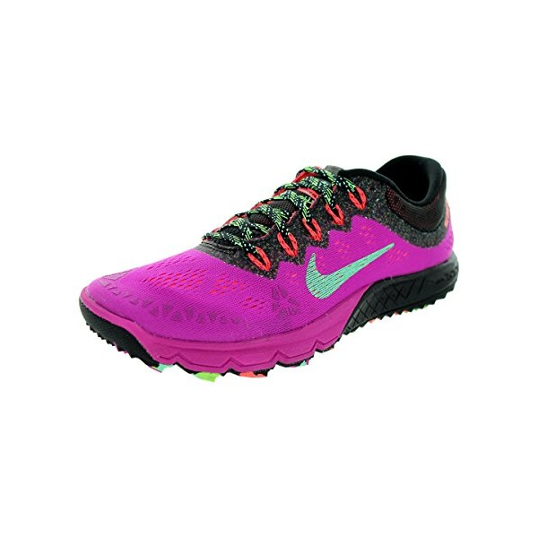 Nike Women's Air Zoom Terra Kiger 2 Fuchsia Flash/Green Glow/Black Running Shoe 6.5 Women US