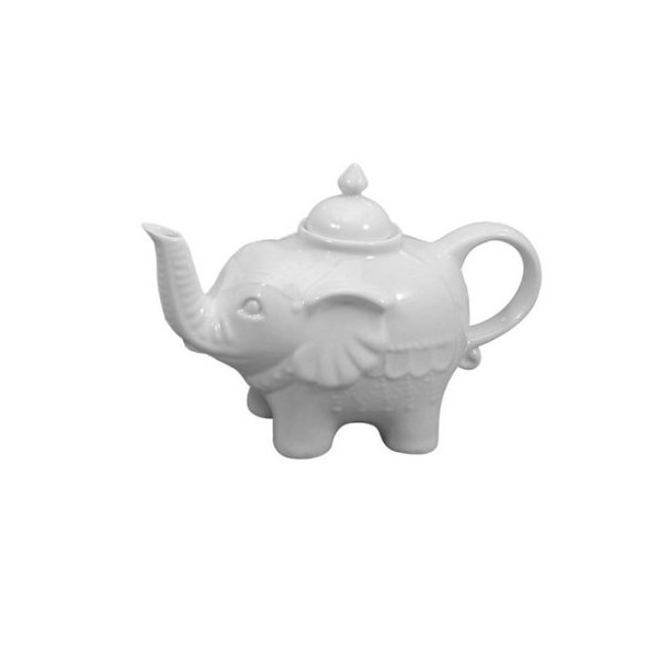 28-oz. Elephant Teapot - White