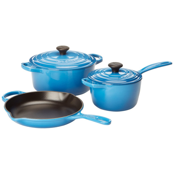 Le Creuset Signature 5-Piece Cast Iron Cookware Set, Marseille