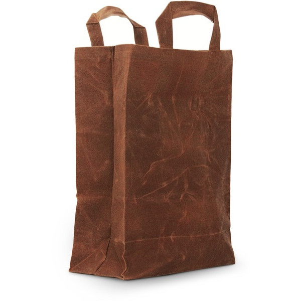 The Market, Handmade Waxed Canvas Reusable Shopping Bag