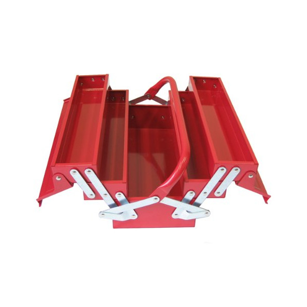 Excel TB124-Red 14-Inch Cantilever Steel Tool Box, Red