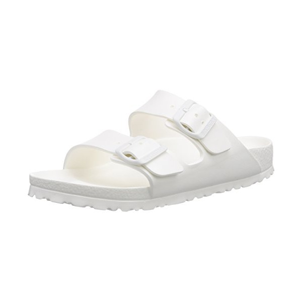 Birkenstock Women's Arizona 2 Strap Sandal - Narrow White 38 N EU
