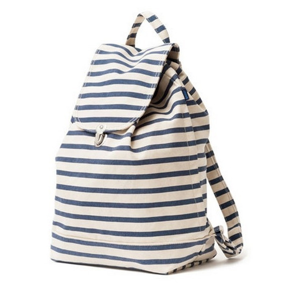 Baggu Cotton Canvas Backpack, Sailor Stripe