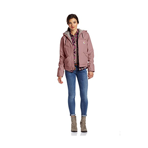 Carhartt Women's Sandstone Sierra Jacket, Dried Rose, Medium