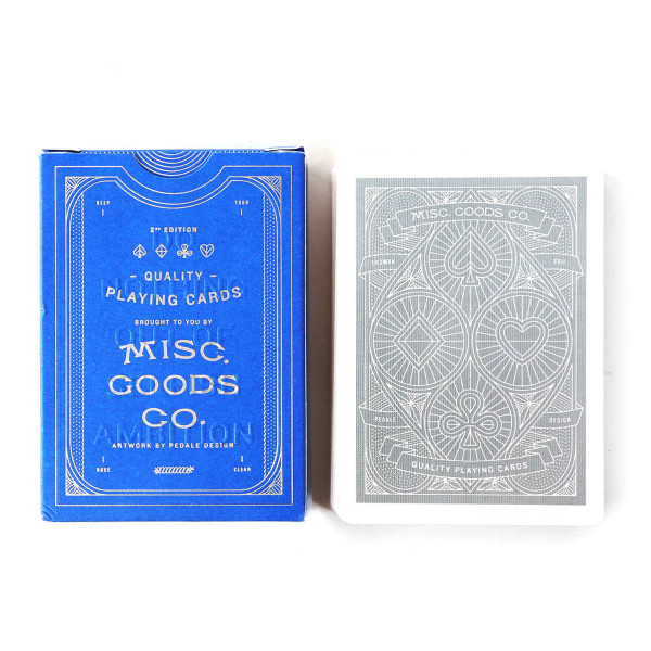 Misc Goods Co. Blue Playing Cards